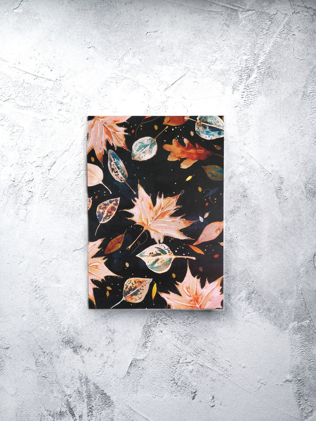 A5 Apricot leaves lined notebook