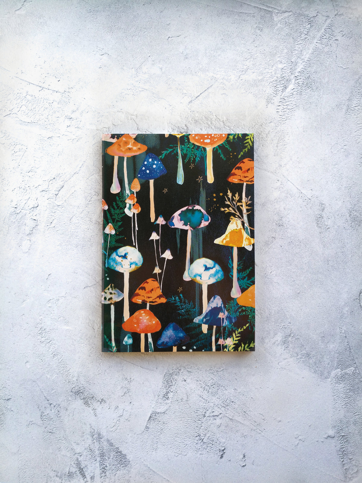 A5 Forest mushroom disco lined notebook