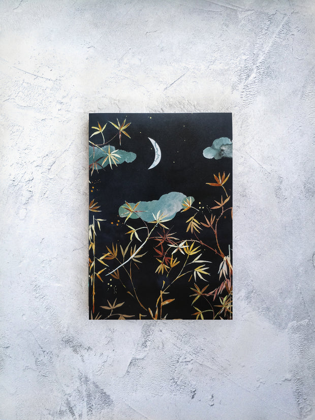 A5 Crescent sickle moon lined notebook