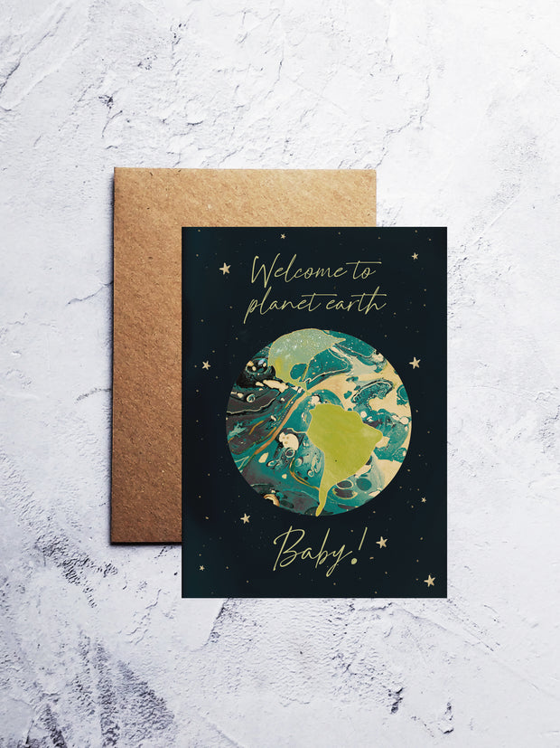A6 Welcome to the world baby greeting card