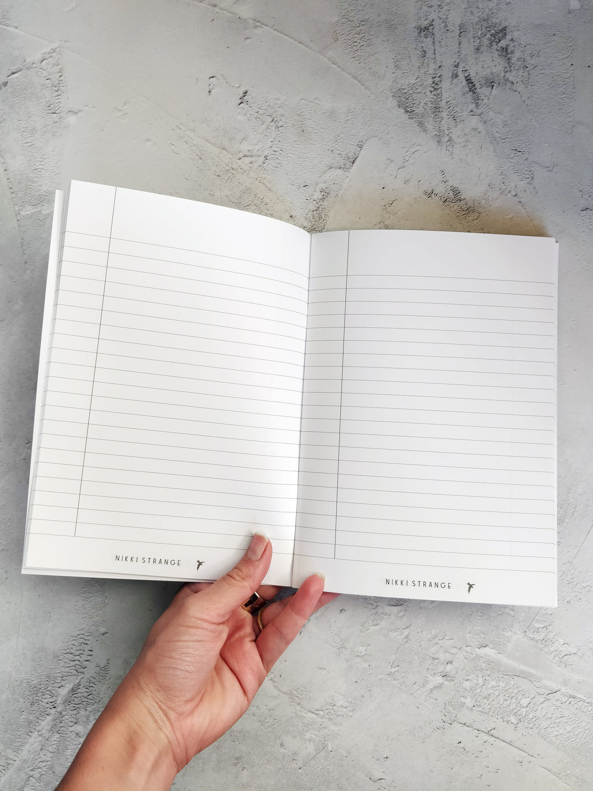 A5 Ethereal cosmos lined notebook