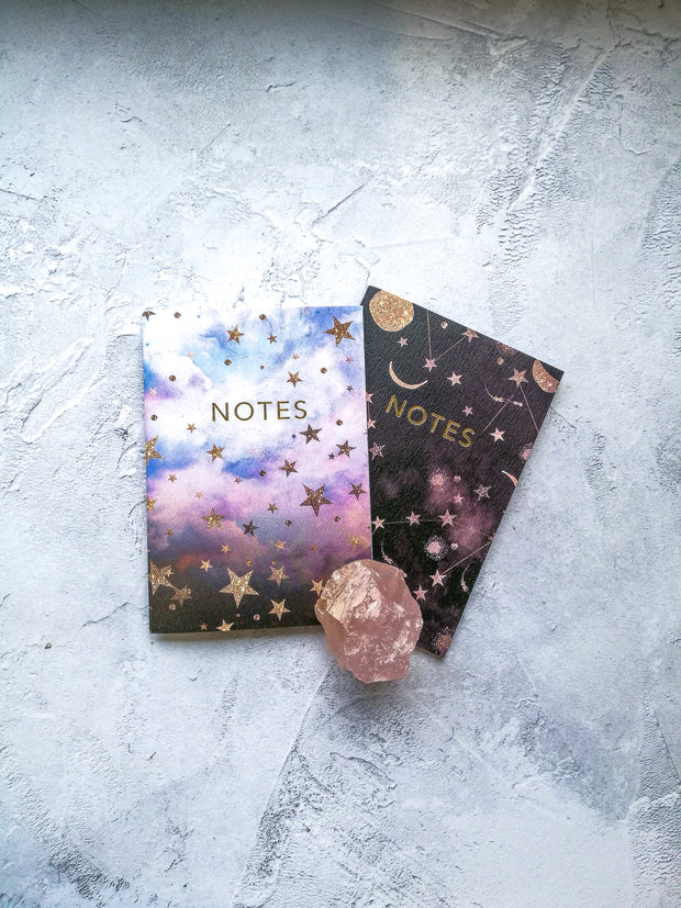 A6 'Constellation Stars' Pocket Notebook Set with Gold Foiling