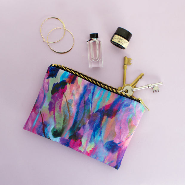Freedom feathers pink mini pouch