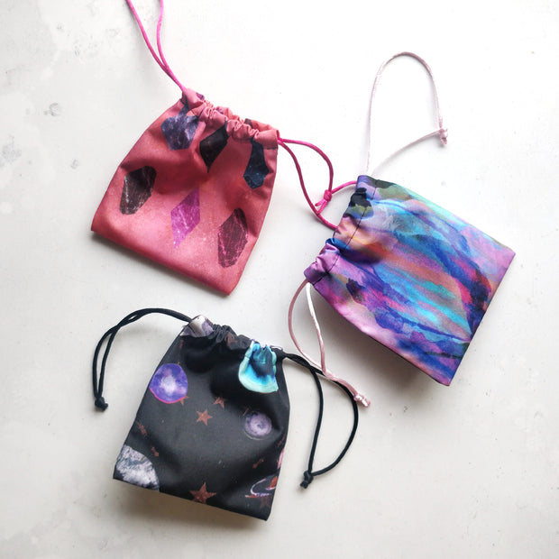 Multi design Menstrual cup pouch bag