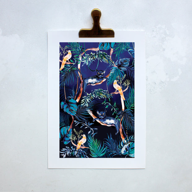 Nocturnal Jungle  Art Print