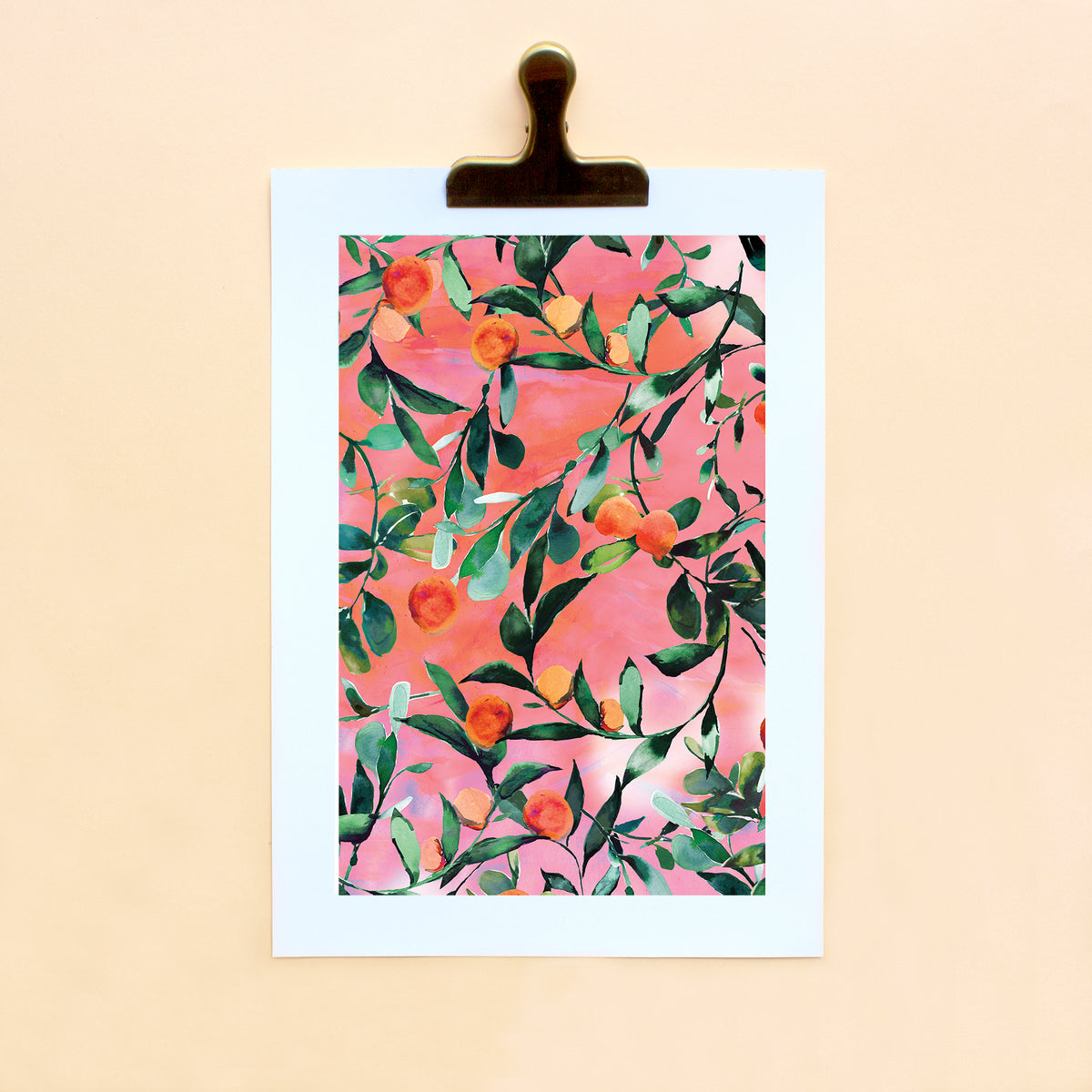 Citrus Orange Tree Art Print