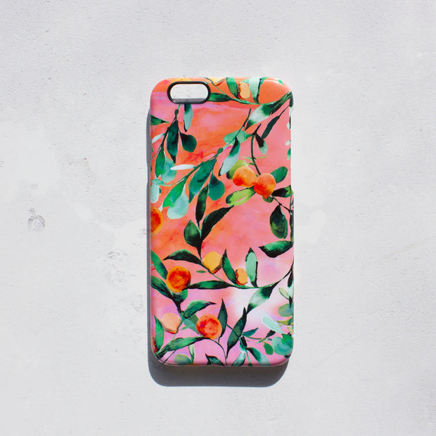 Orange Tree Smart Phone Case