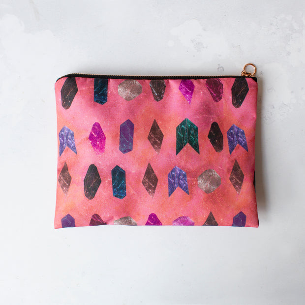 Crystal healing waterproof travel cosmetic bag