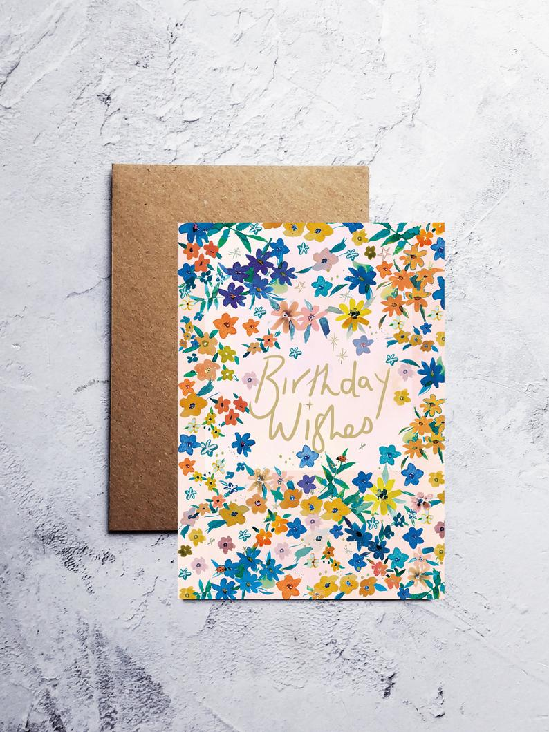 A6 Garden birthday greeting card