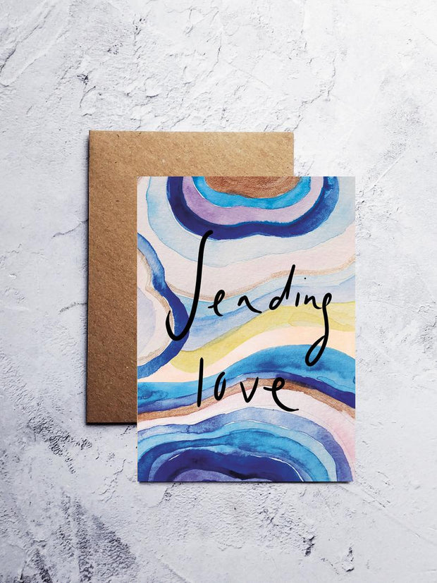 A6 Sending love greeting card