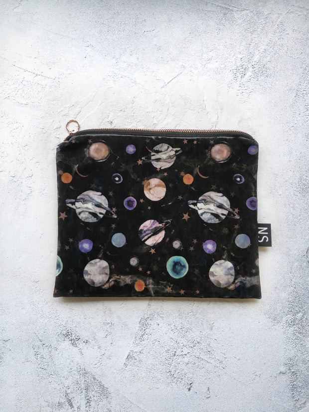 Marble galaxy radiant velvet  bag