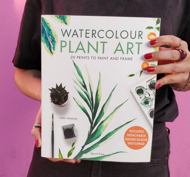 Watercolour Plant art painting book with sketchbook pad (Signed by author)