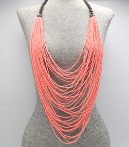 Bermuda Resort Layered Pink Necklace Set - Agatha & Helen
