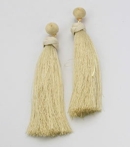 Long Thread Tassel Fringe Earrings - Agatha & Helen