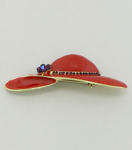 Red Hat Society Brooch Pin - Agatha & Helen