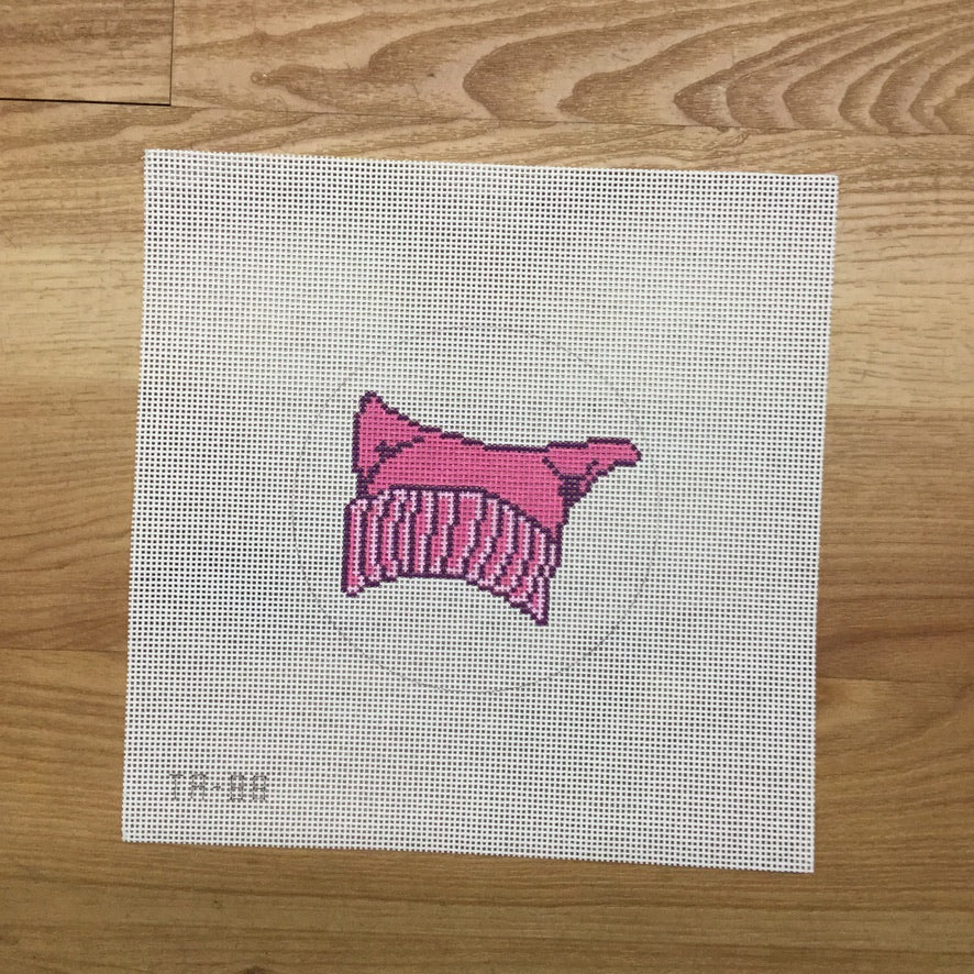 Pink Cat Hat Canvas