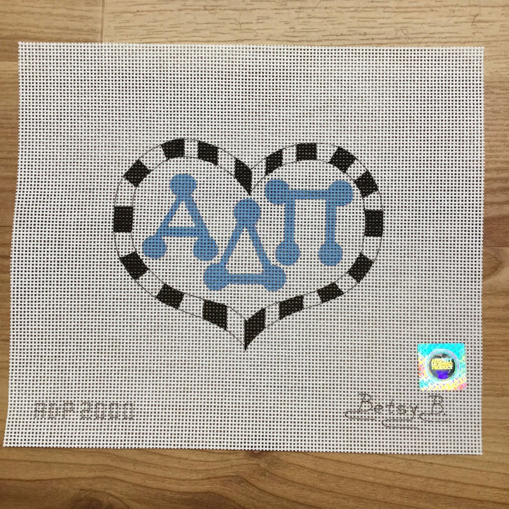 Alpha Delta Pi Heart with Letters