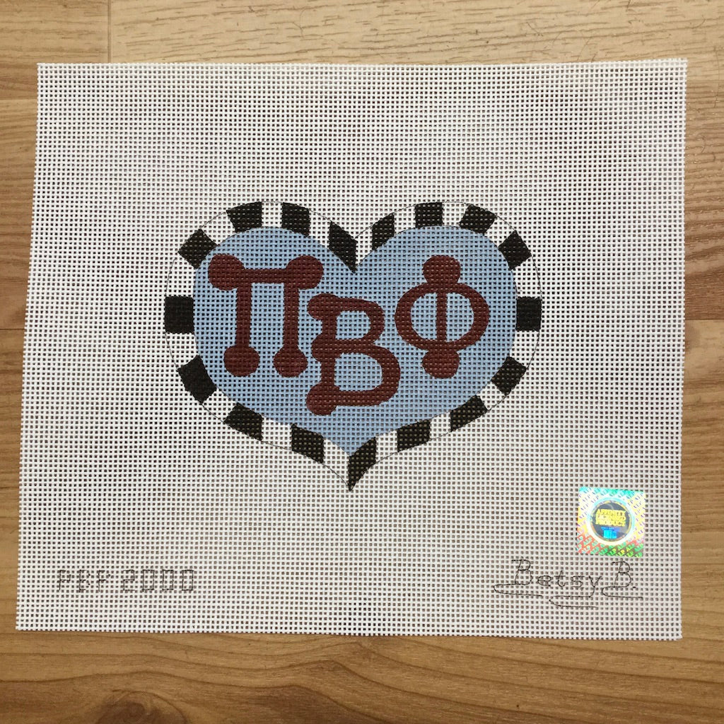 Pi Beta Phi Heart with Letters