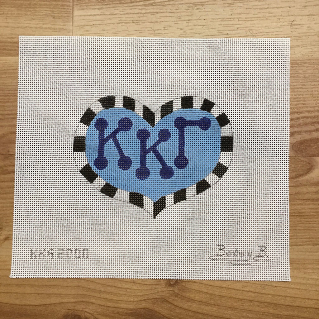 Kappa Kappa Gamma Heart with Letters