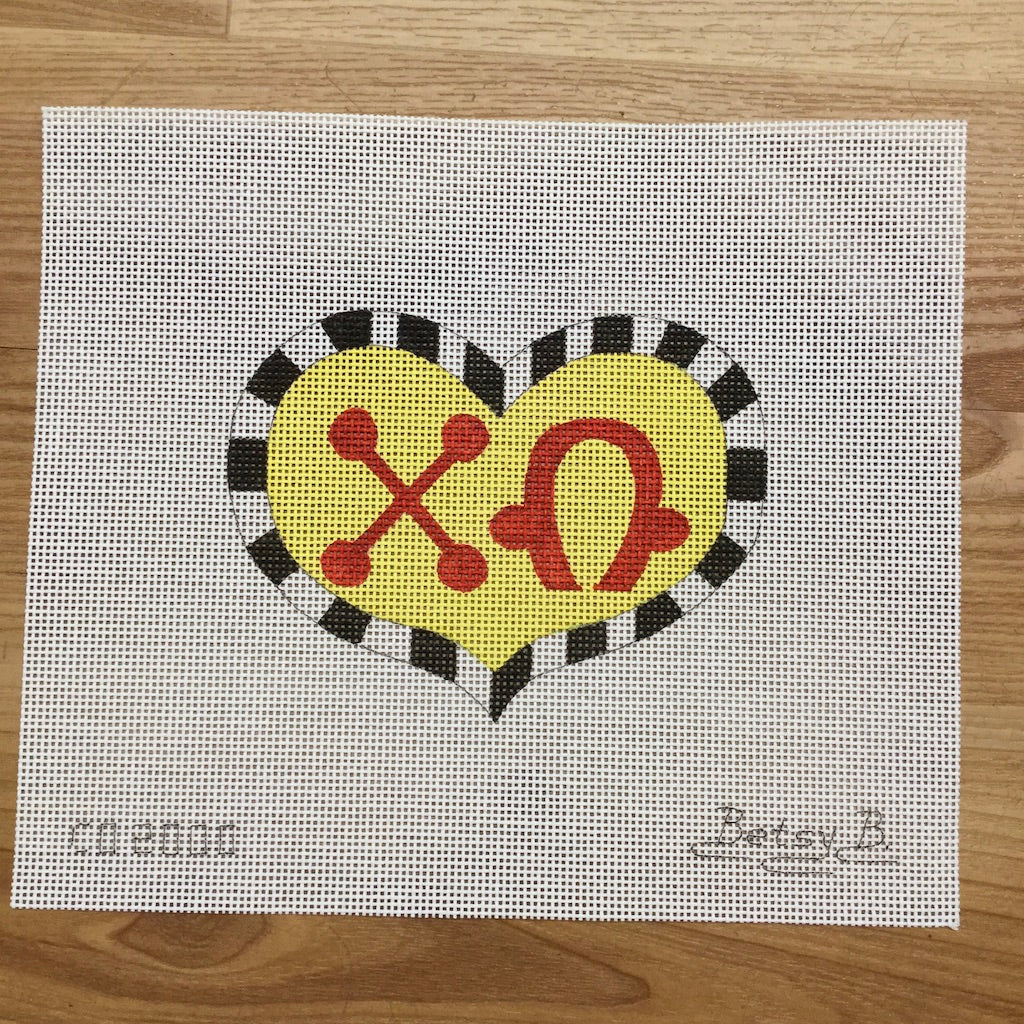 Chi Omega Heart with Letters