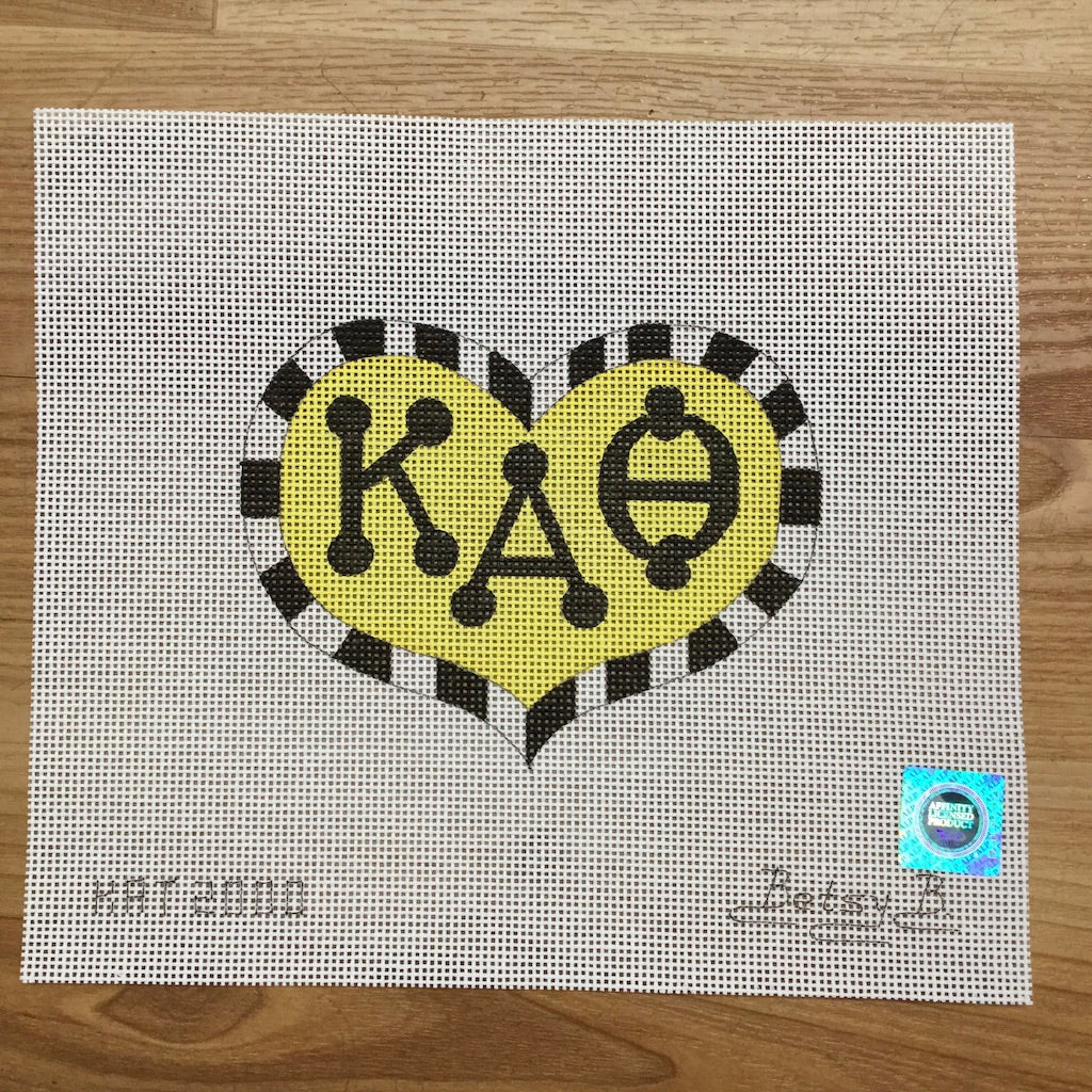 Kappa Alpha Theta Heart with Letters
