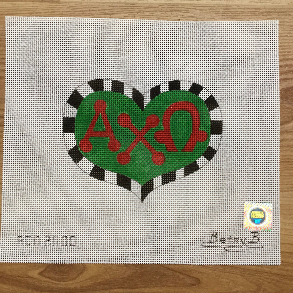 Alpha Chi Omega Heart with Letters