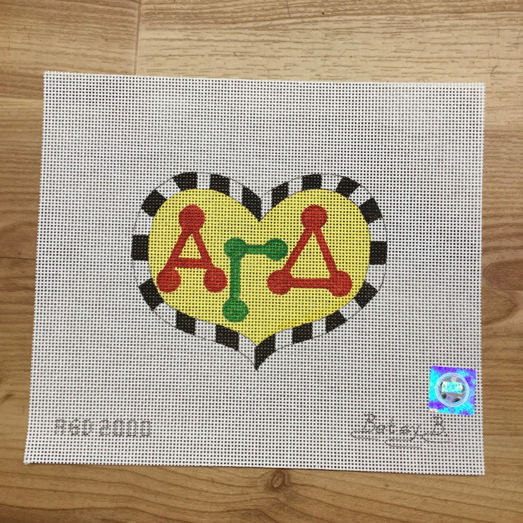 Alpha Gamma Delta Heart with Letters