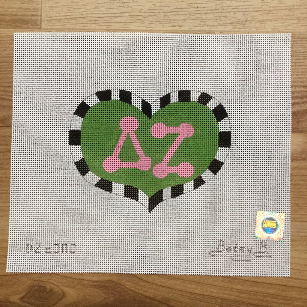 Delta Zeta Heart with Letters