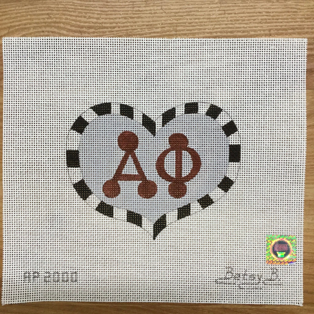 Alpha Phi Heart with Letters