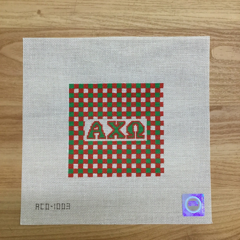 Alpha Chi Omega Gingham Square