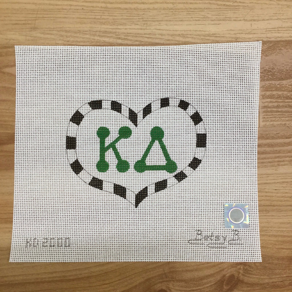 Kappa Delta Heart with Letters