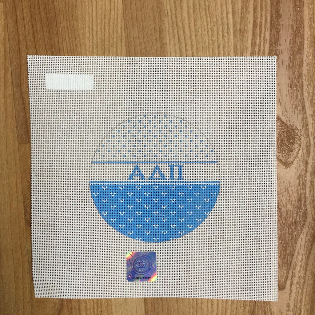 Alpha Delta Pi Striped Round