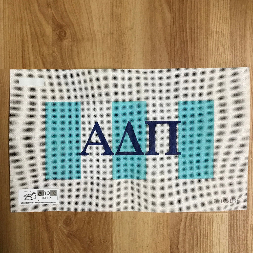 Alpha Delta Pi Letters on Stripes