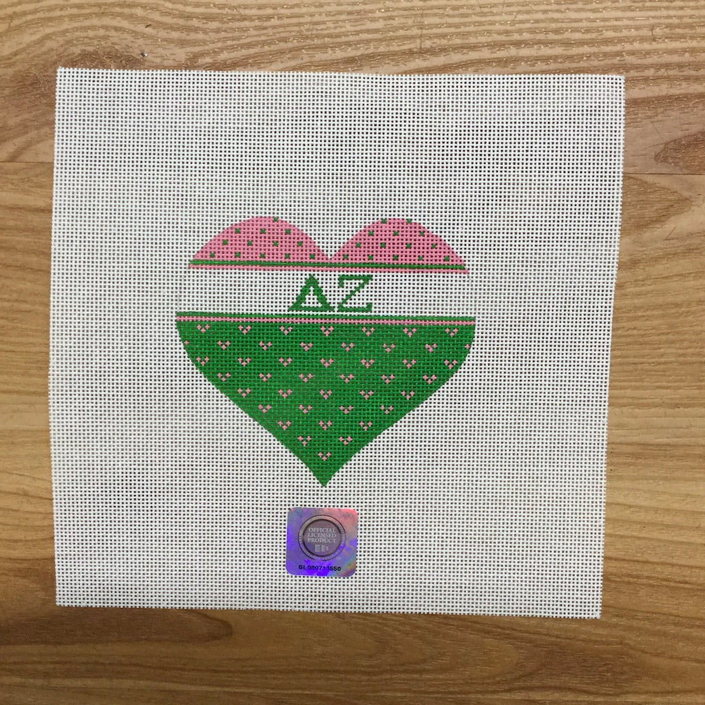 Delta Zeta Striped Heart