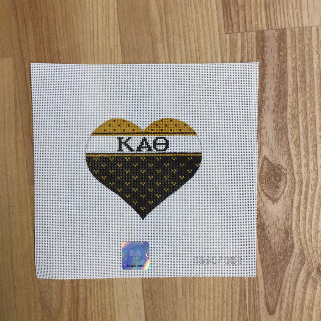 Kappa Alpha Theta Striped Heart