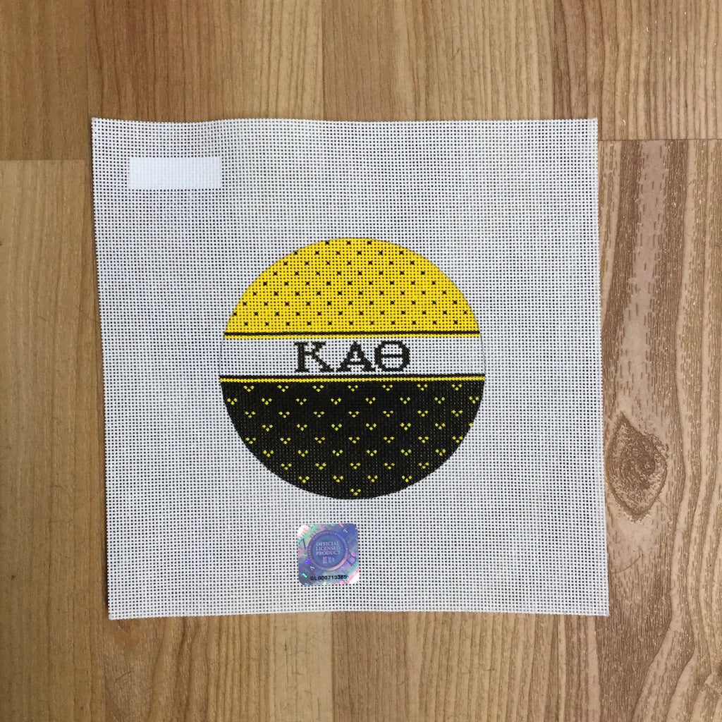 Kappa Alpha Theta Striped Round