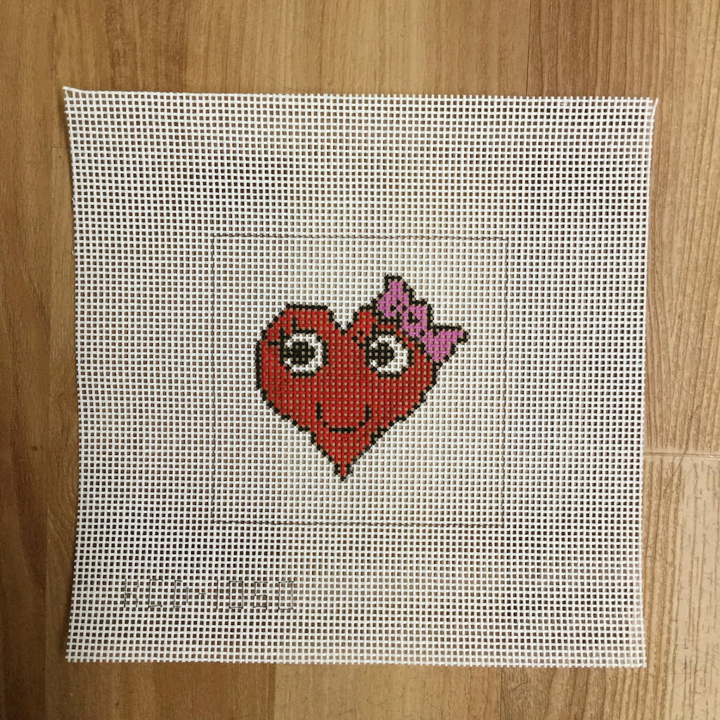 Heart with a Bow Beginner Canvas