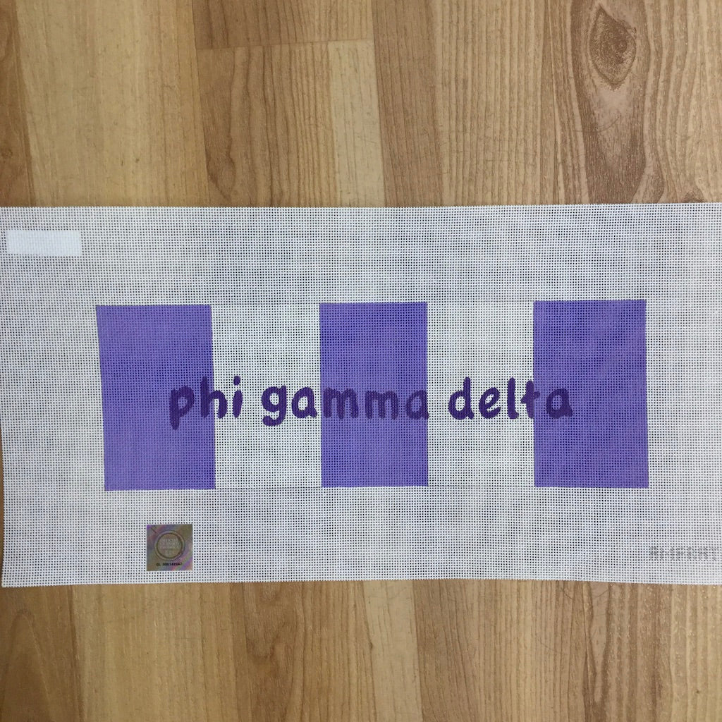 Phi Gamma Delta Name on Stripes