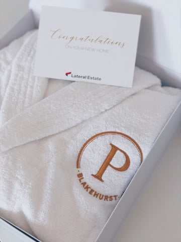 Parcelle Corporate - Logo Branded Luxury Robe with Custom design and printed card