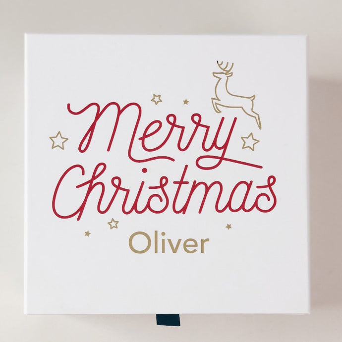 Merry Christmas Personalised Christmas Gift Box | Parcelle Christmas Gifts & Hampers