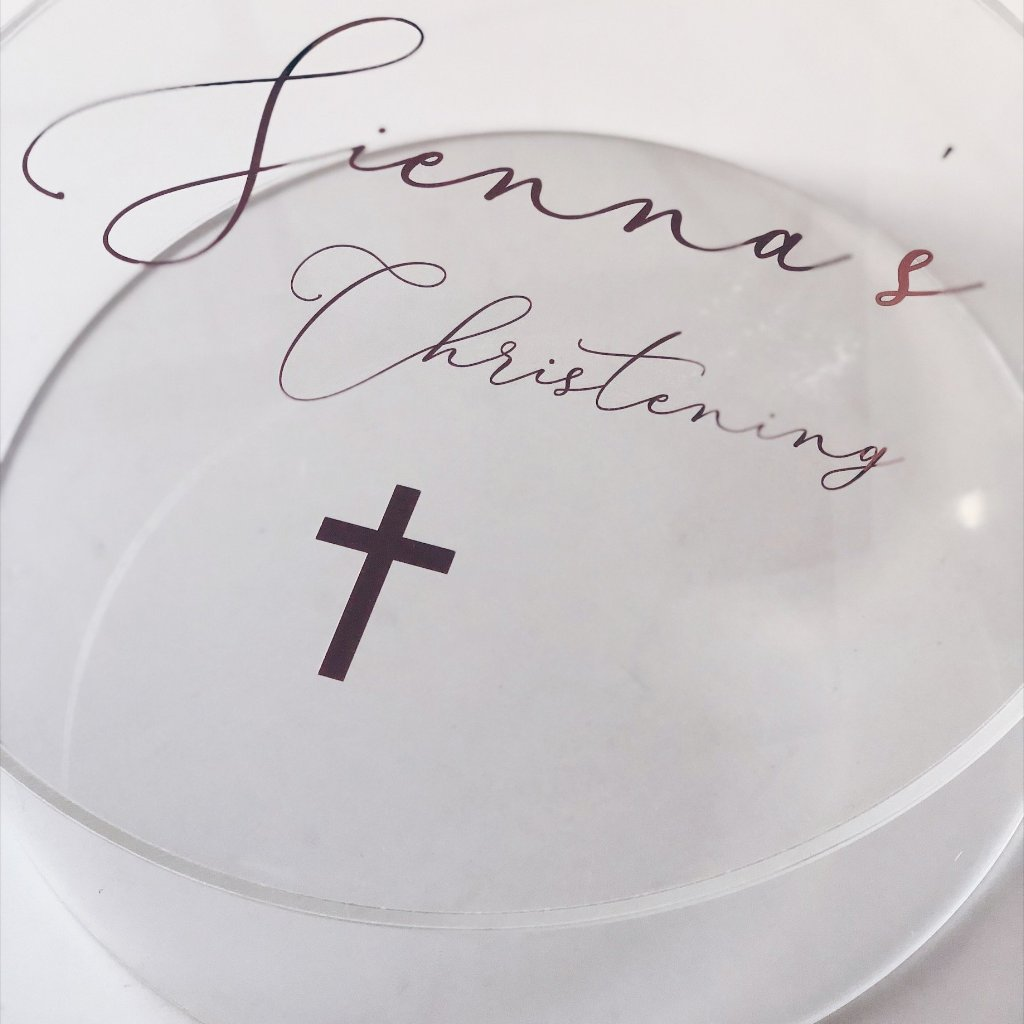 Round Clear Acrylic Personalised Box - Parcelle