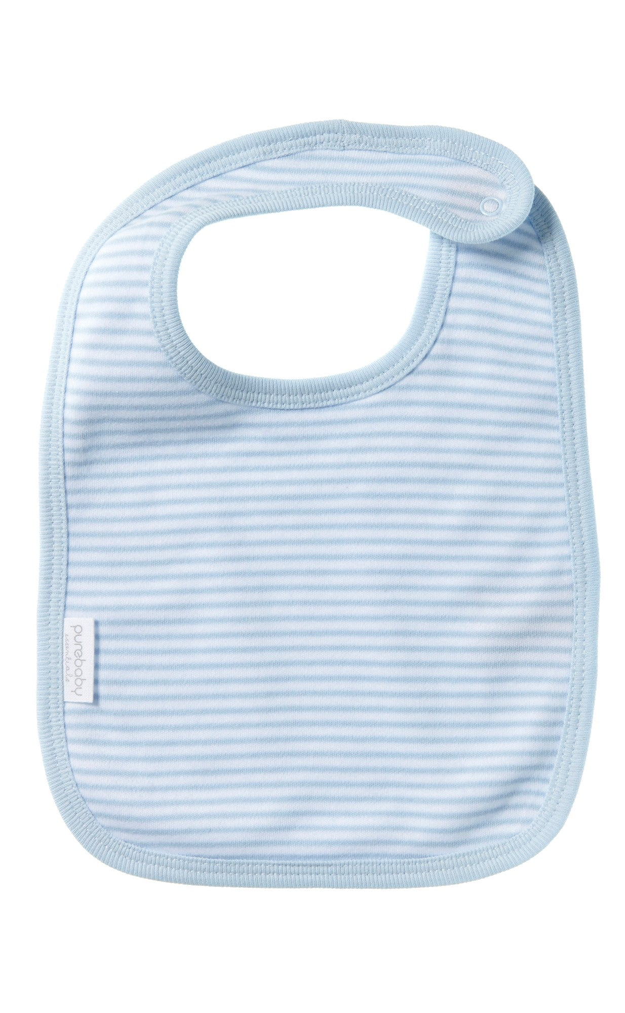 Purebaby Pale Blue Stripe Bib