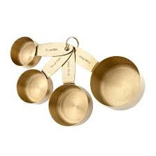 Parcelle / Parcelle Home Collection - Ladelle gold set of 4 measuring cups - Settlement Gifts, gifts for her, sydney gifts, luxury gifts, corporate gifts