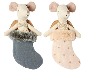 MOUSE ANGEL IN STOCKING