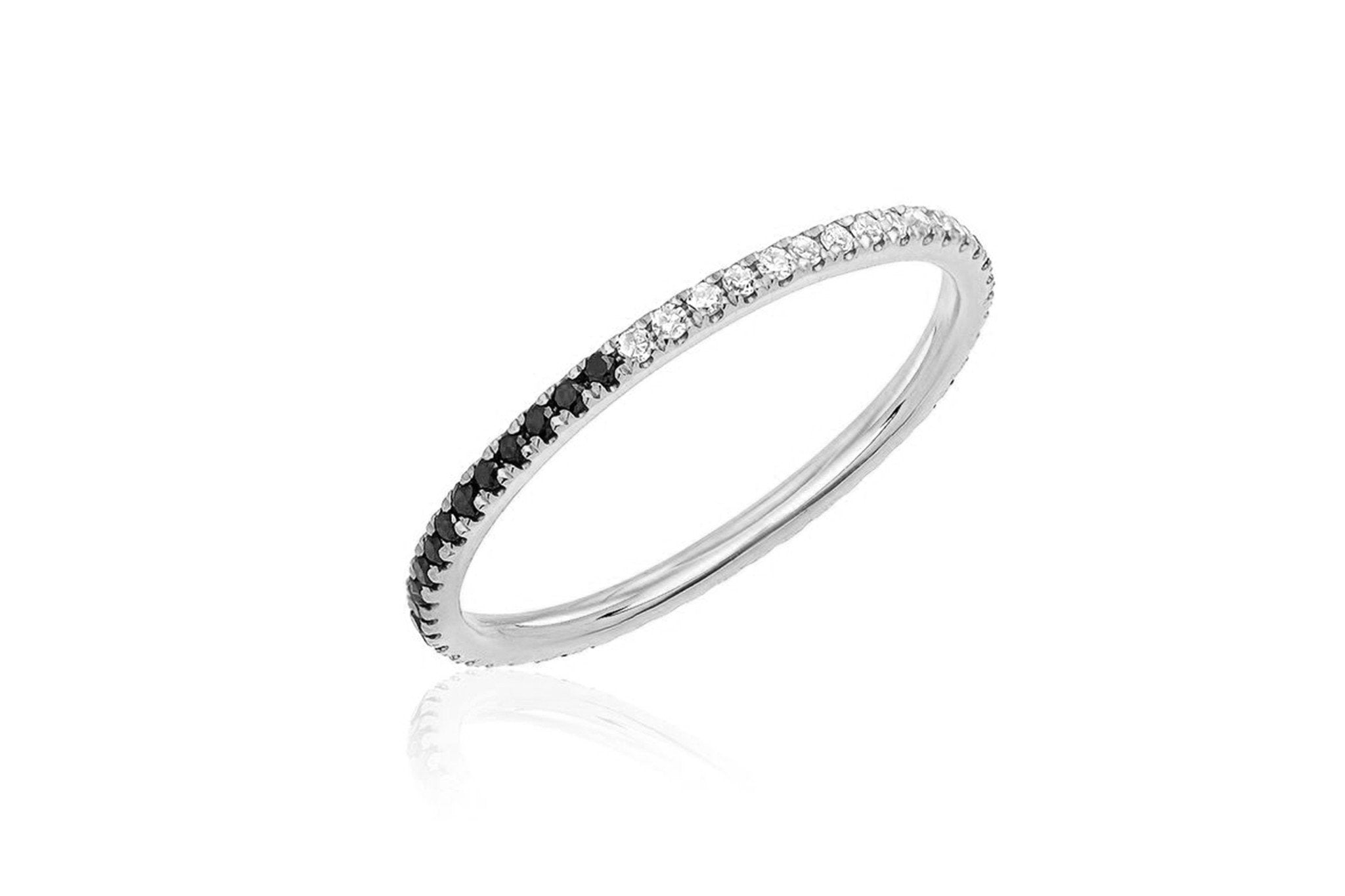 EF Collection 2 TONE DIAMOND ETERNITY BAND RING