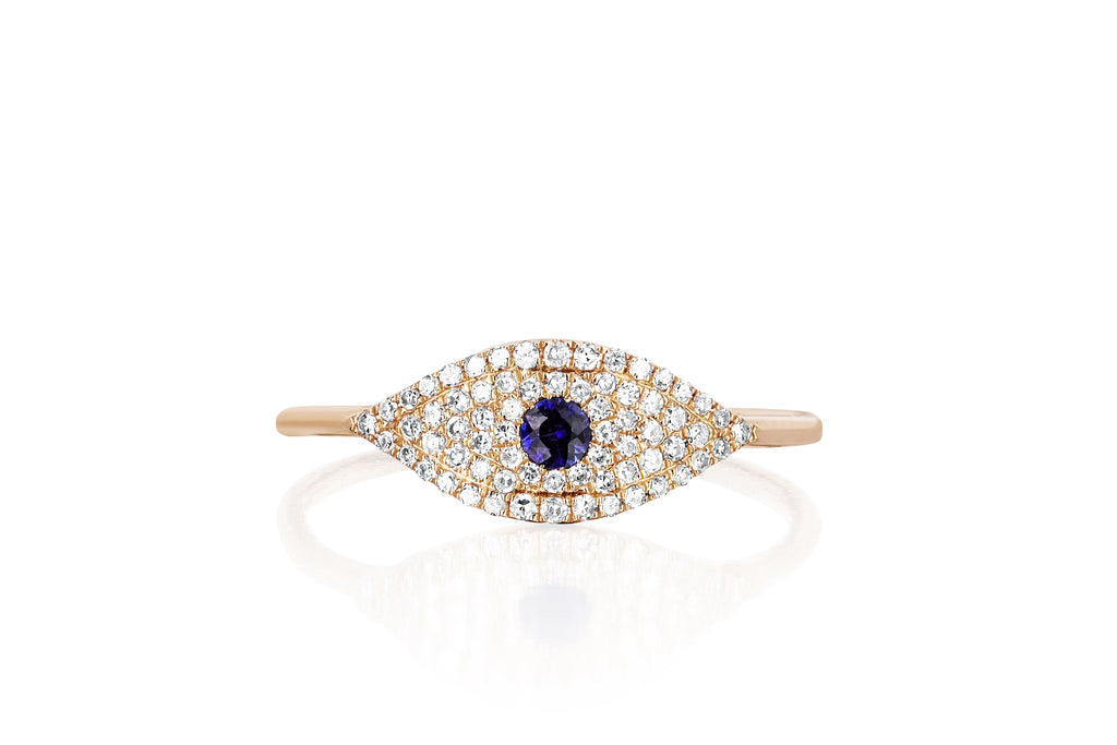EF Collection DIAMOND JUMBO EVIL EYE RING