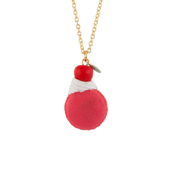 CHERRY ON THE MACARON LONG NECKLACE