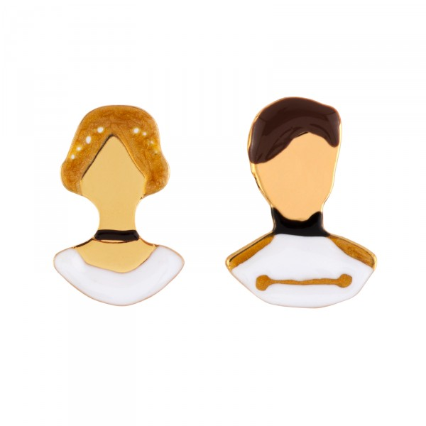 FACES OF CINDERELLA AND THE PRINCE CHARMING EARRINGS