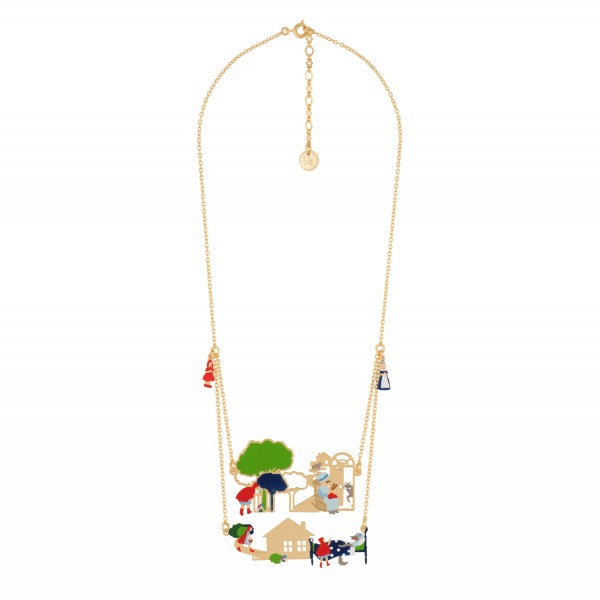 FLAGSHIP SCENES OF THE LITTLE RED RIDING HOOD DOUBLE ROW NECKLACE