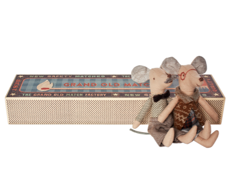 MICE GRANDPA & GRANDMA IN MATCHBOX